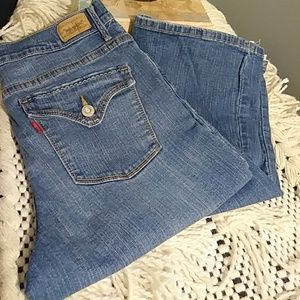 Gently used levis 512 boot cut jeans